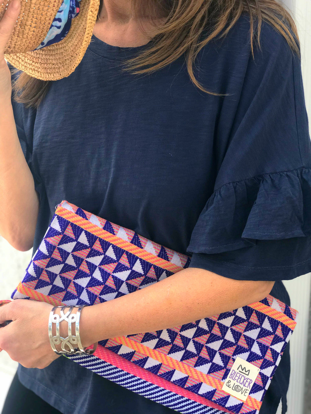 Morocco Blue Clutch