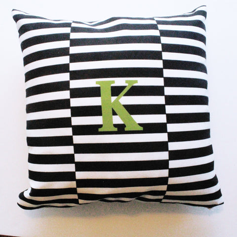 Sample Sale: Black Stripe Indoor Pillow