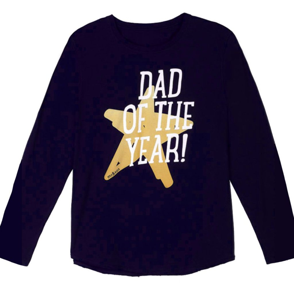 Dad Of The Year Midnight Blue Long Sleeve T-Shirt (Men's) - milogiftshop