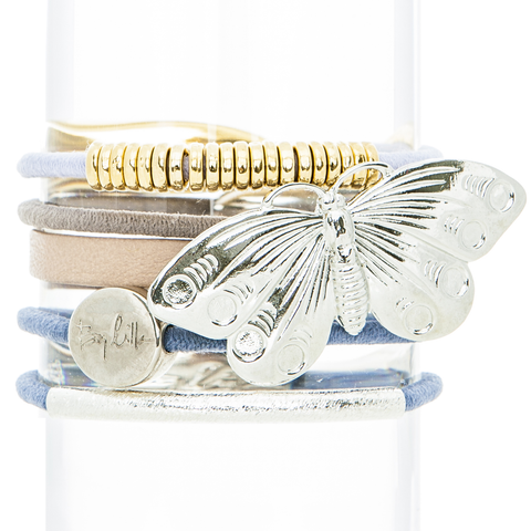 Butterfly Hair Band Bracelet Stack