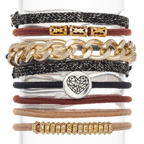 Max Hair Band Bracelet Stack
