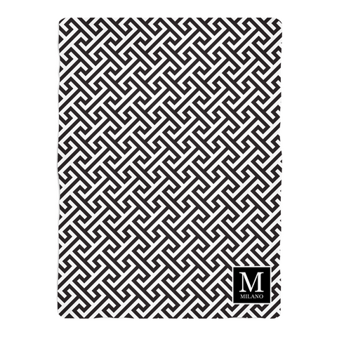 Mykonos Black Fleece Blanket