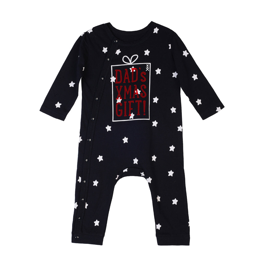Dad's XMAS Gift Long Sleeve Onesie - milogiftshop