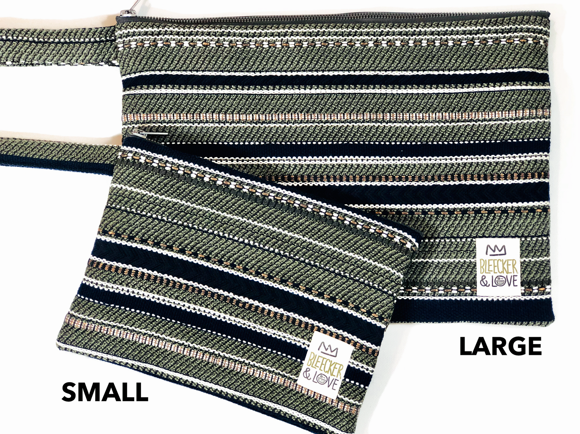 Olive Flat Pouch - 2 Sizes Available