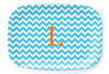 Aqua Chevron Platter - Multiple Personalization Options Available