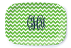Chevron Green Platter - Multiple Personalization Options Available