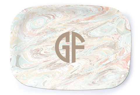 Marble Pale Platter - Multiple Personalization Options Available