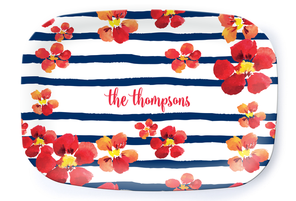 Nautical Blooms Platter