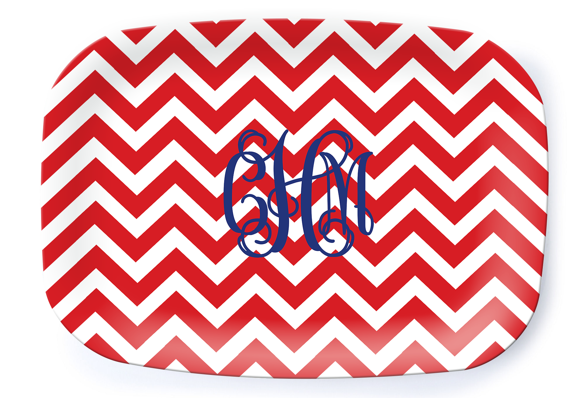 Nautical Chevron Platter - milogiftshop
