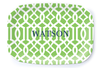 Trellis Gate Green Platter - Multiple Personalization Options Available