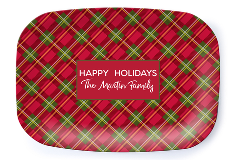 Holiday Plaid Platter