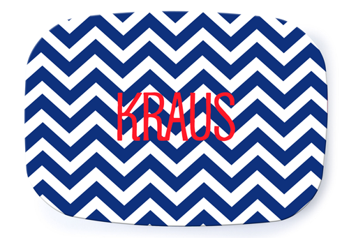 Chevron Nautical Platter - milogiftshop
