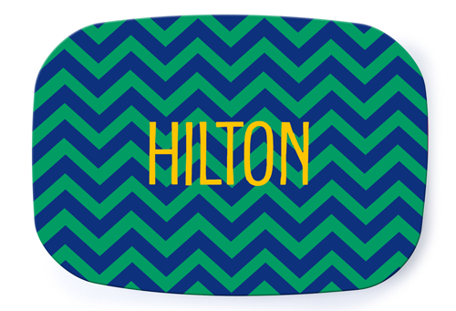 Chevron Preppy Platter