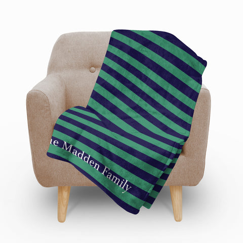 Green Blue Fleece Blanket