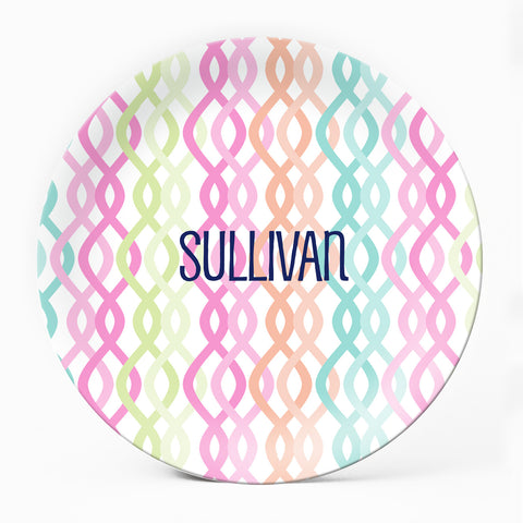 Colorful Trellis Plate