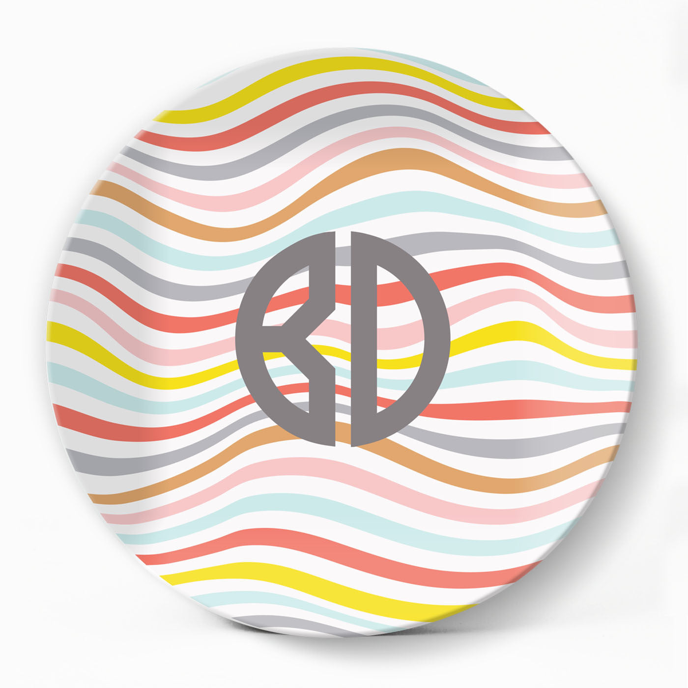 Summer Swirls Plate - milogiftshop