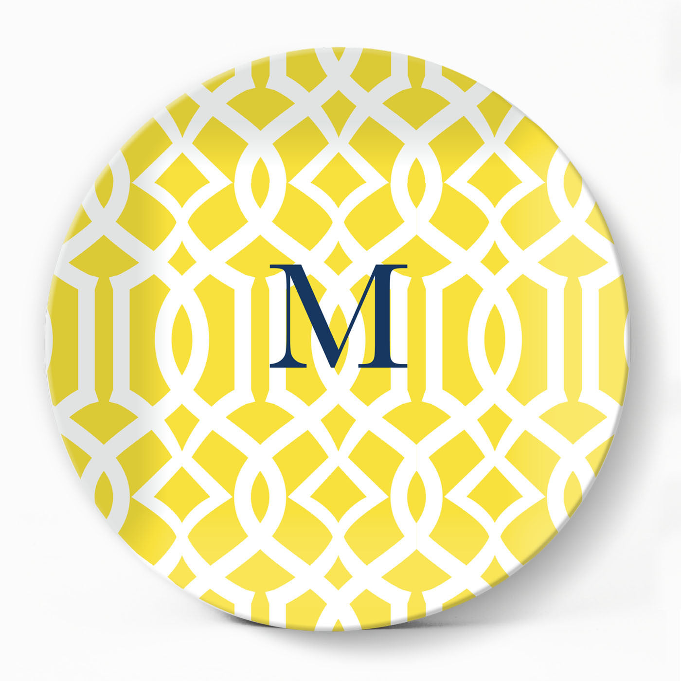 Trellis Gate Yellow Plate - milogiftshop