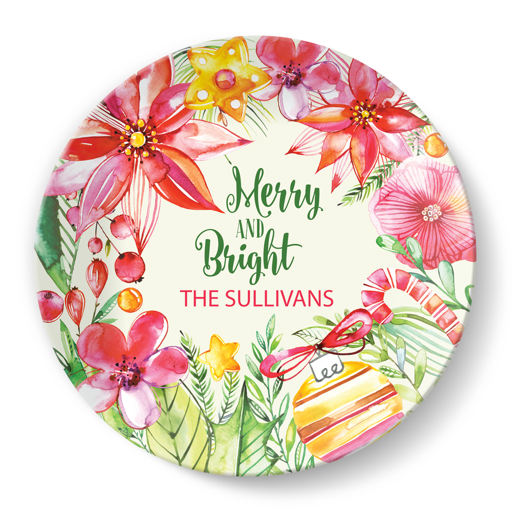 Merry and Bright Plate - milogiftshop