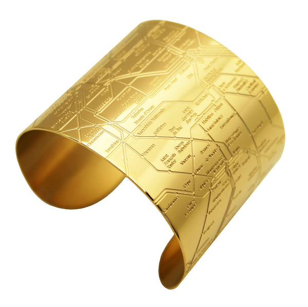 Paris Gold Metro Cuff