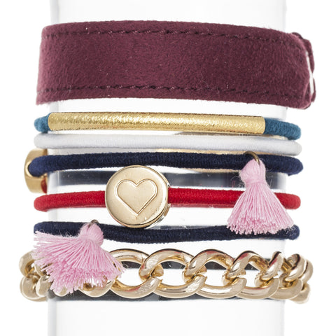 Tassels Hair Band Bracelet Stack