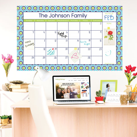 Hex Yeah Large Monthly Calendar