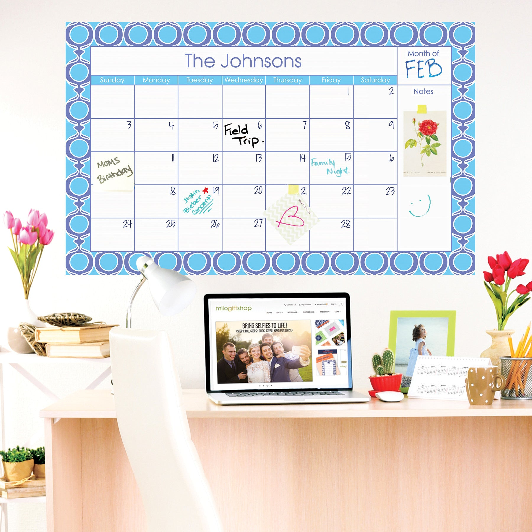 Michaela Large Monthly Calendar - milogiftshop