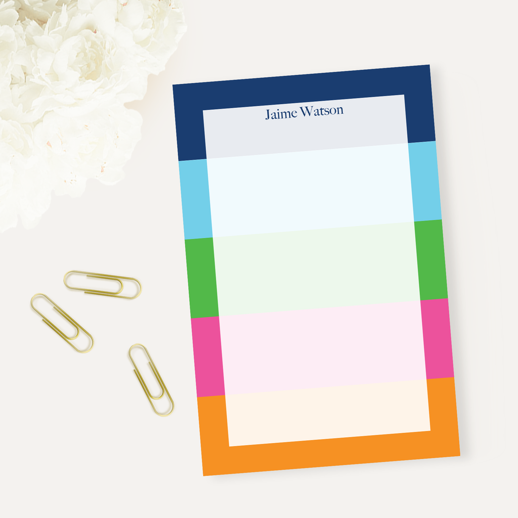 Bright Stripes Notepad - milogiftshop
