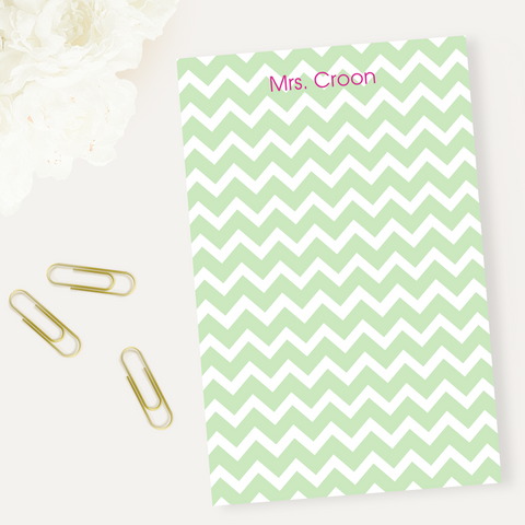 Chevron Green Notepad