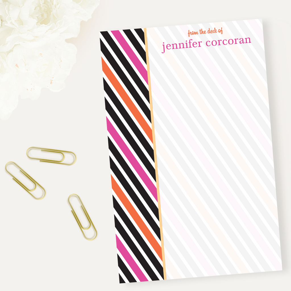 Deco Stripes Notepad - milogiftshop