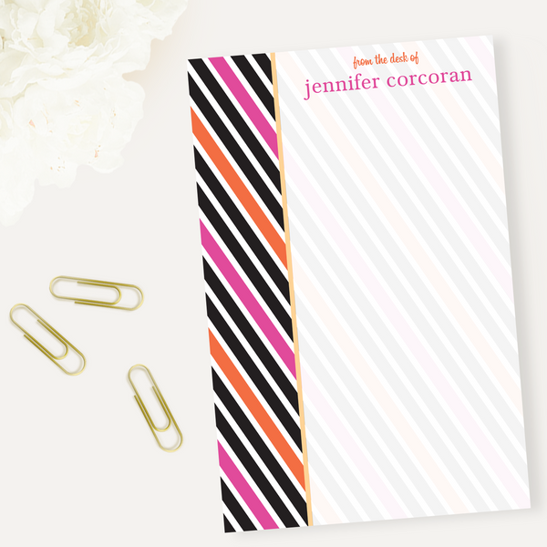 Deco Stripes Notepad
