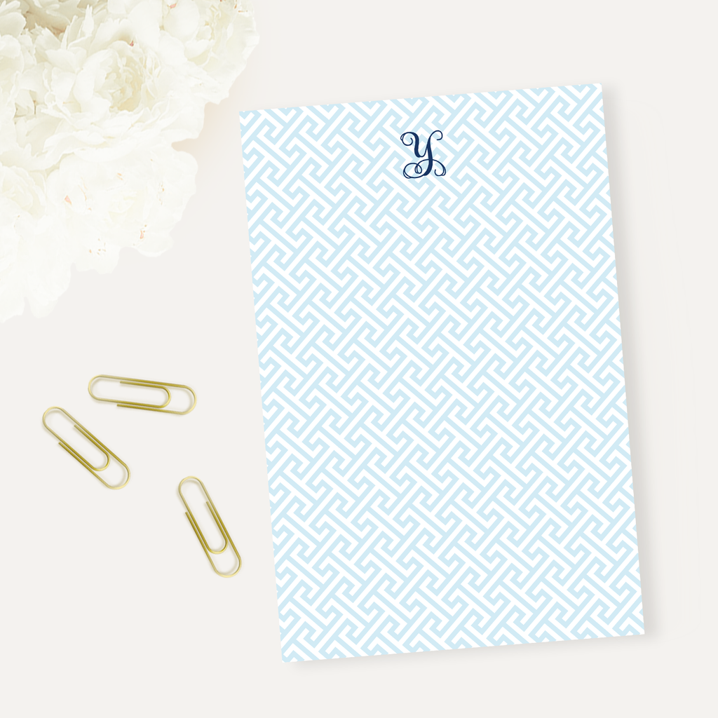 Mykonos Blue Notepad