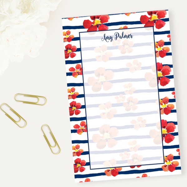 Nautical Blooms Notepad
