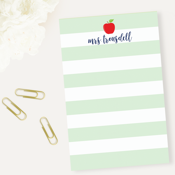 Striped Apple Notepad