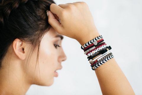 Chevron Chic Hair Band Bracelet Stack