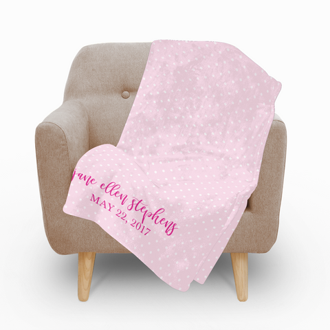 Baby Girl Fleece Blanket