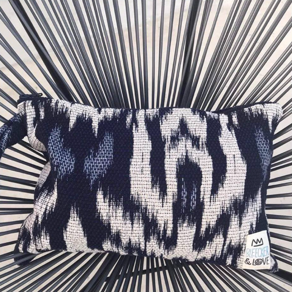 Blue iKat Flat Pouch - 2 Sizes Available - milogiftshop