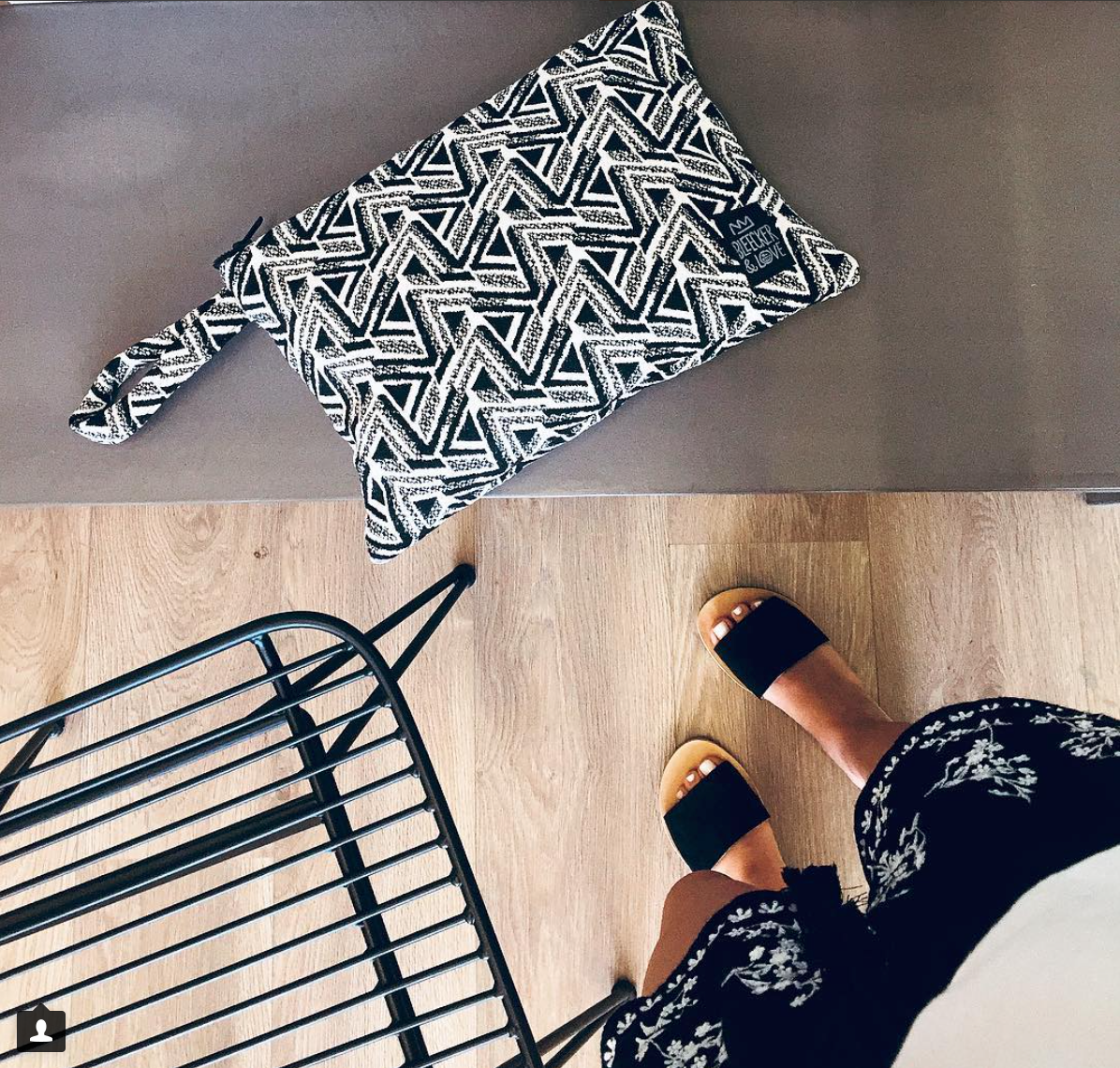 Zig Zag Flat Pouch - 2 Sizes Available