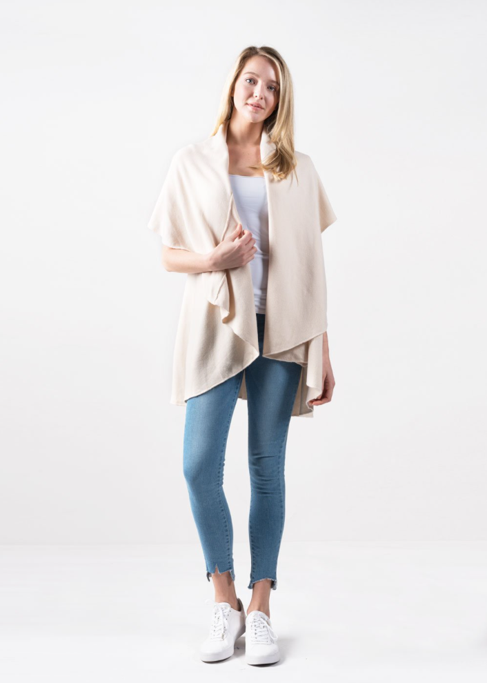 Basic Shawl Vest - Two Colors Available
