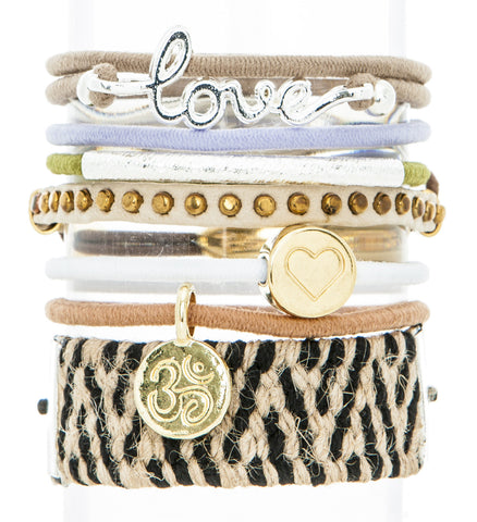 Love It Hair Band Bracelet Stack