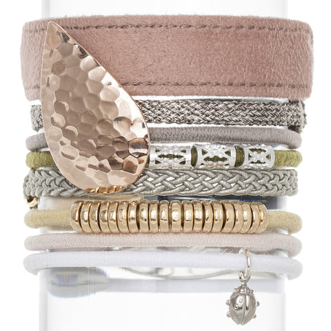 Sienna Hair Band Bracelet Stack