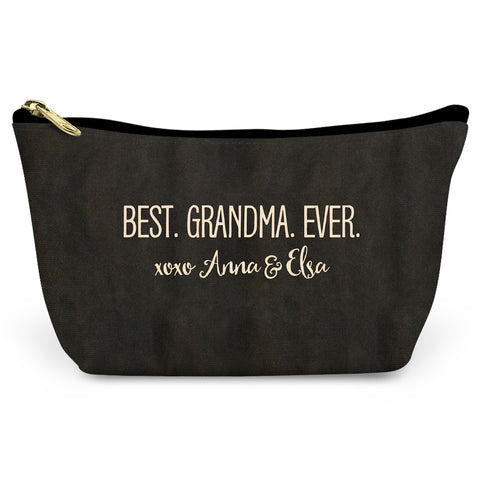 Best Granda Ever Canvas T-Bottom Pouch
