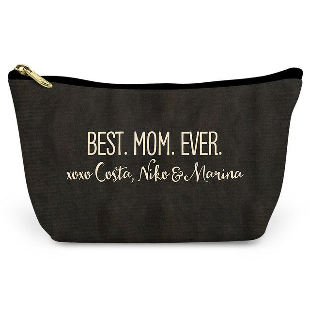 Best Mom Ever Canvas T-Bottom Pouch - milogiftshop