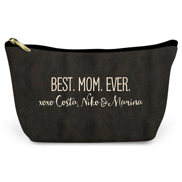 Best Mom Ever Canvas T-Bottom Pouch