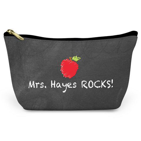 Best Teacher Canvas T-Bottom Pouch