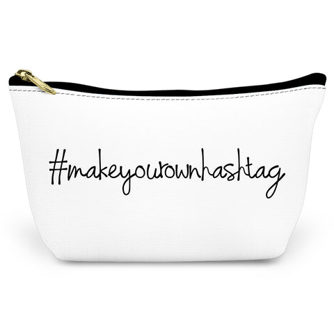 Make Your Own Hashtag Canvas T-Bottom Pouch
