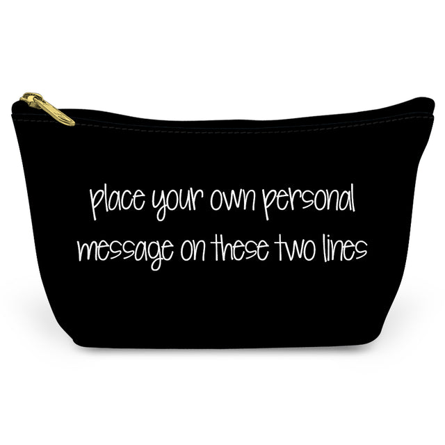 Black Make Your Own Canvas T-Bottom Pouch - milogiftshop