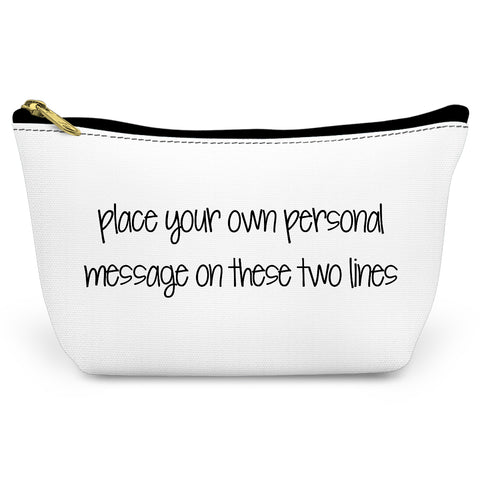 White Make Your Own Canvas T-Bottom Pouch