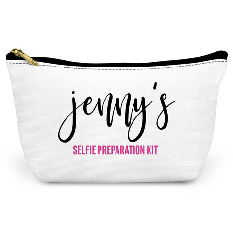 Selfie Prep Canvas T-Bottom Pouch