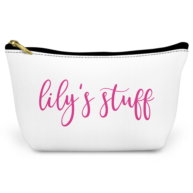 Simple Script Canvas T-Bottom Pouch - milogiftshop