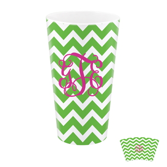 Chevron Green Tumbler